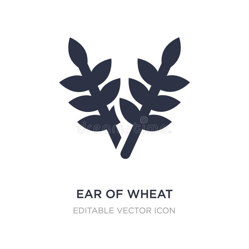 ucho pszeniczna ikona na białym tle Prosta element ilustracja od Karmowego pojęcia ilustracja wektor