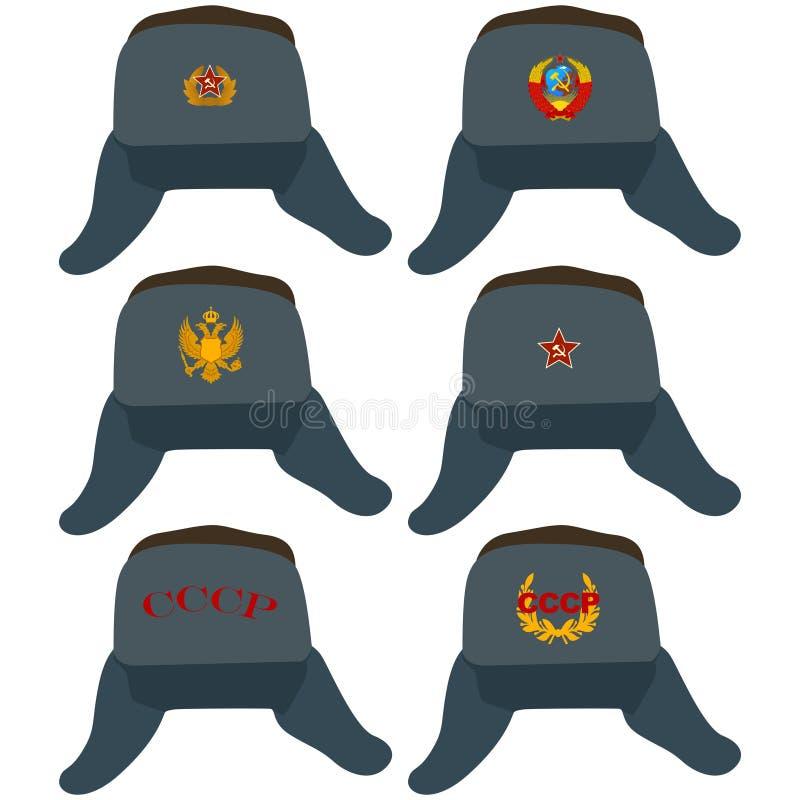 ucho trzepocze kapelusz ilustracja wektor