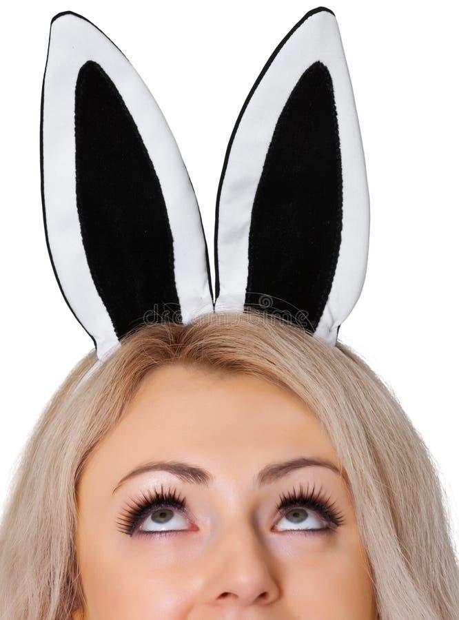ucho twarzy dziewczyny królika s biel obrazy royalty free