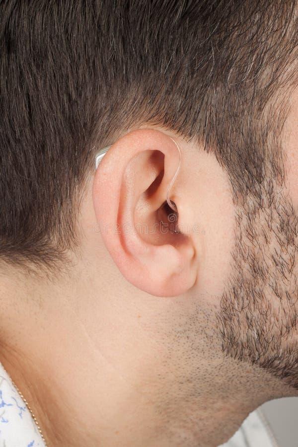 Ucho z akustycznym instrumentem obrazy royalty free
