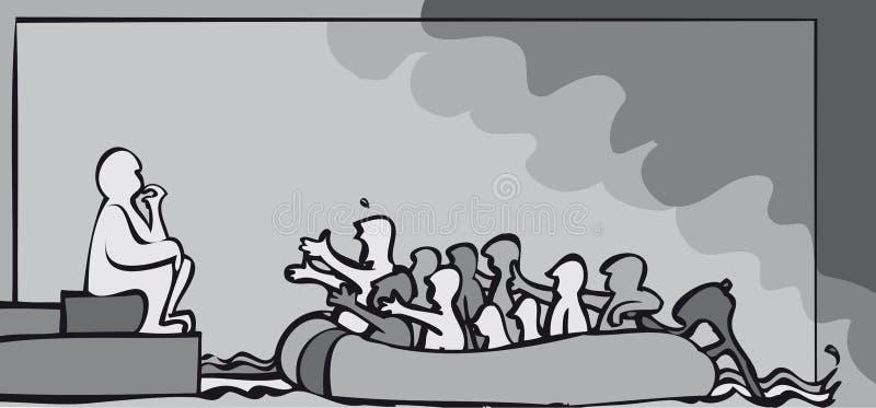 Uchodźca decyzja ilustracji