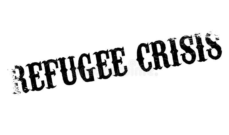 Uchodźcy kryzysu pieczątka ilustracji