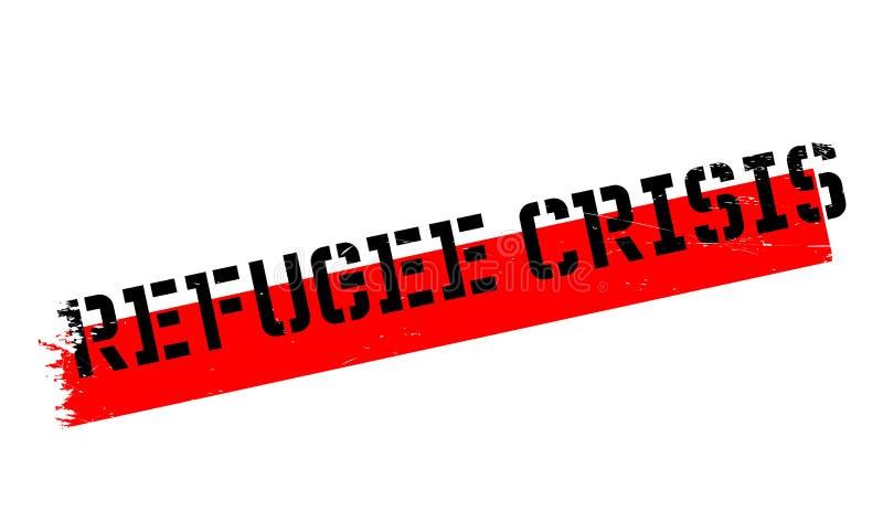 Uchodźcy kryzysu pieczątka ilustracja wektor
