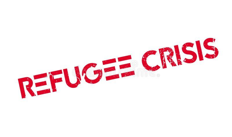 Uchodźcy kryzysu pieczątka royalty ilustracja