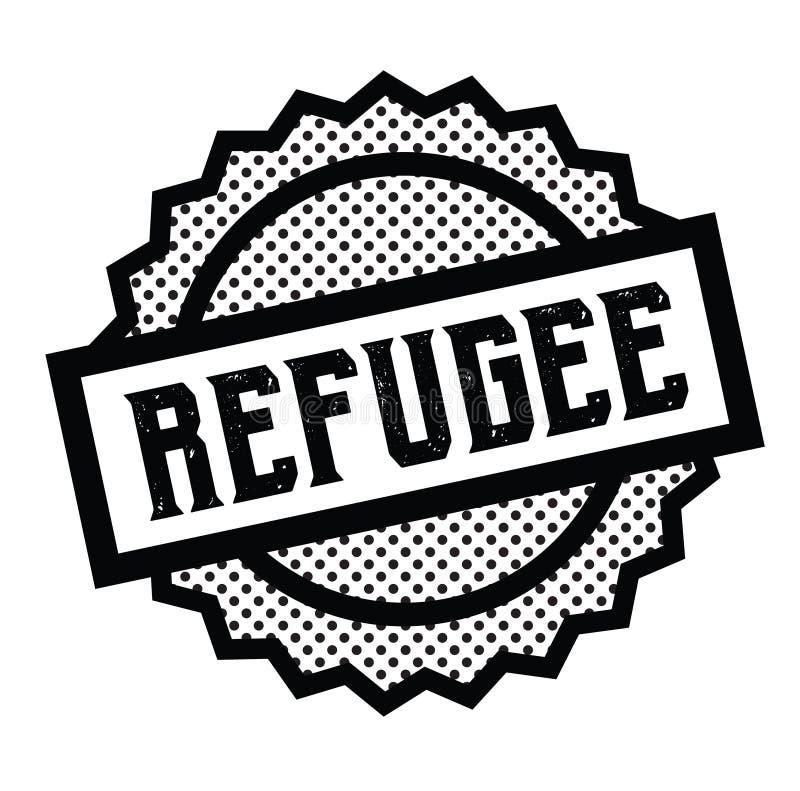 Uchodźcy znaczek na bielu ilustracji