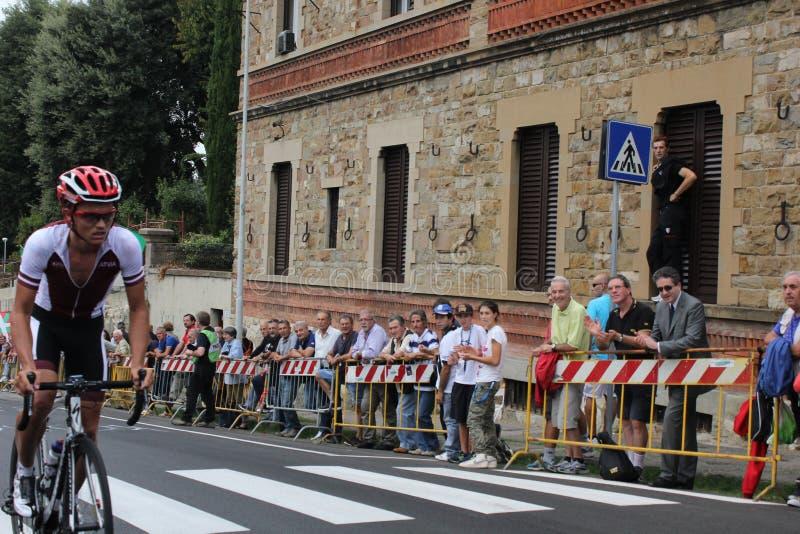 UCI-Straßen-Weltmeisterschaften Toskana 2013 Sport, Leidenschaft, Farben und solides zusammen gemischt in der herrlichen Stadt vo stockfoto