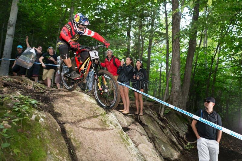 UCI-världscup sluttande 2013, Mont Ste-Anne, Beaupr royaltyfria bilder