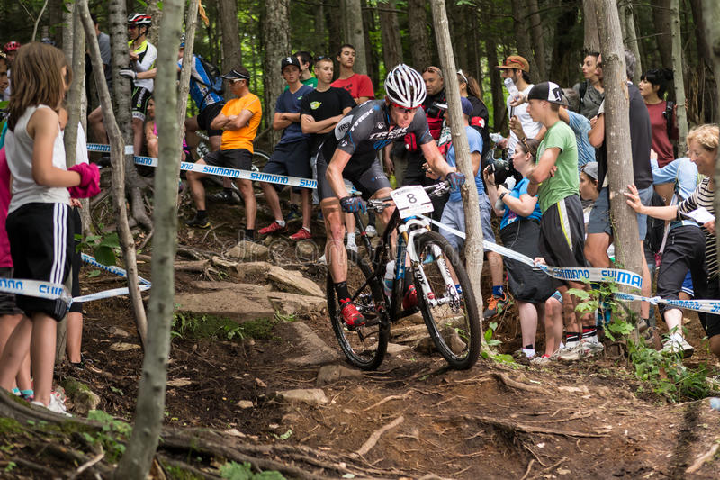 UCI-Weltcup-Cross Country 2013, Mont Ste-Anne, B Redaktionelles Stockbild