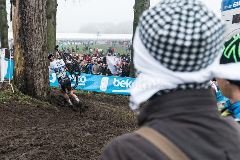 UCI-Wereldbeker Cyclocross - Hoogerheide, Nederland stock afbeelding
