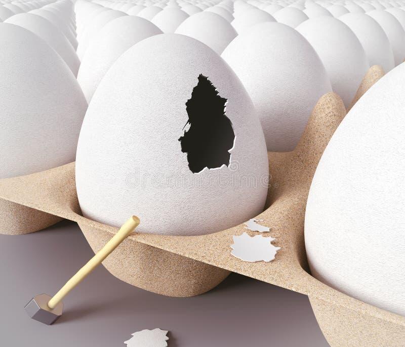 Ucieczka od jajka ilustracji