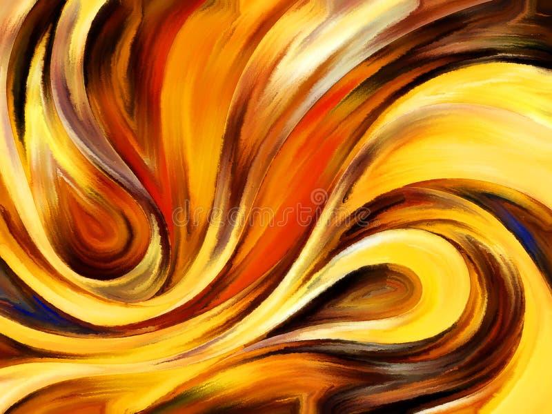 Ucieczka Wewnętrzna farba ilustracja wektor