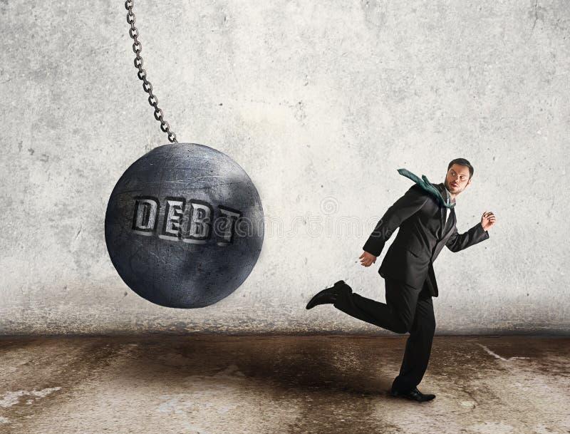 Ucieka dług obrazy stock