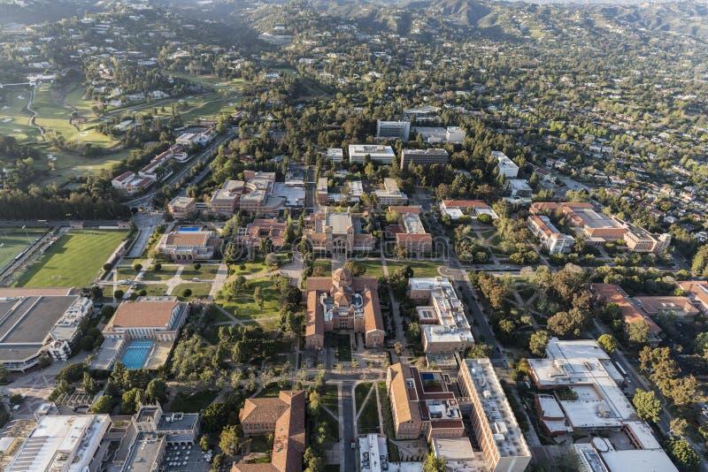 UCLA Calpus Powietrzny Kalifornia Los Angeles obrazy royalty free
