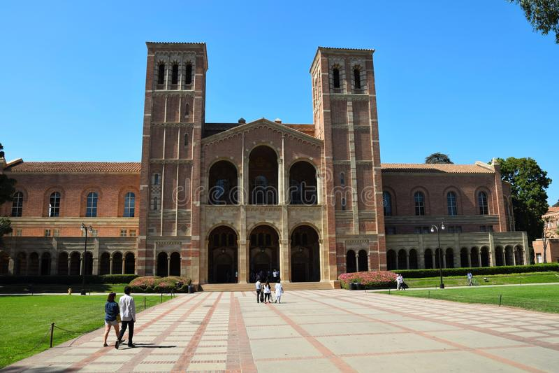 UCLA-Campus stock afbeelding
