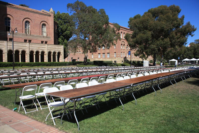 UCLA campus, California, USA. This picture has been taken in the campus of UCLA (University of Califoria Los Angeles) on a september day. Back to school for stock photography