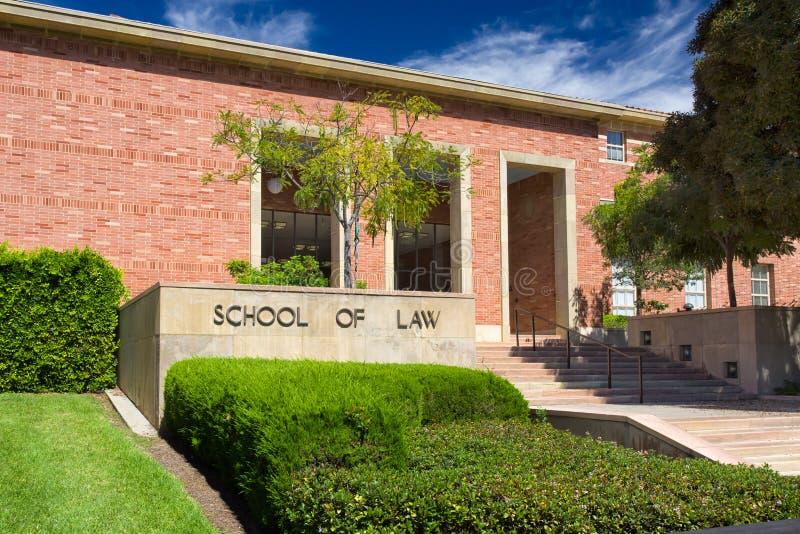 Ucla-Rechtsfakultät auf dem Campus von UCLA lizenzfreie stockfotos