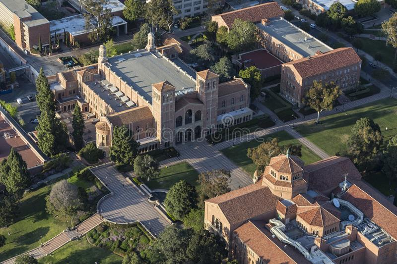 UCLA Royce Hall Campus Aerial fotos de stock