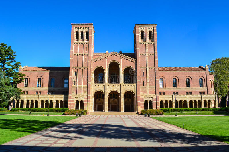 UCLA Royce Hall College Campus fotografia de stock royalty free