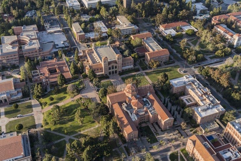 UCLA Royce Hall kampusu kwadrata antena zdjęcia stock