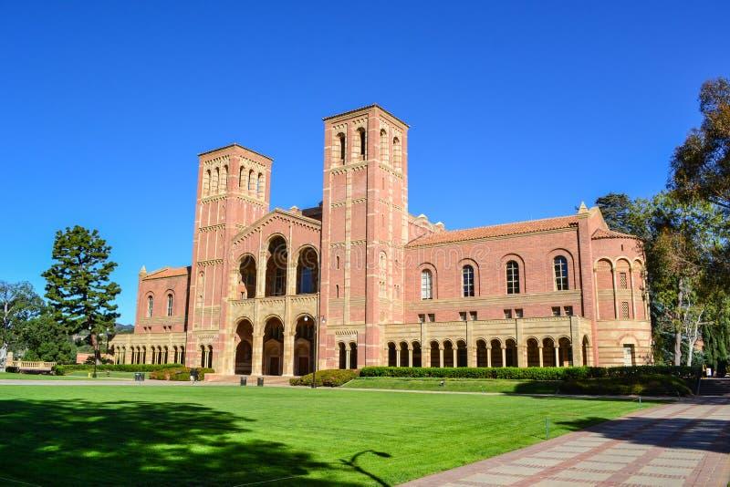 UCLA-Universiteitscampus stock foto's