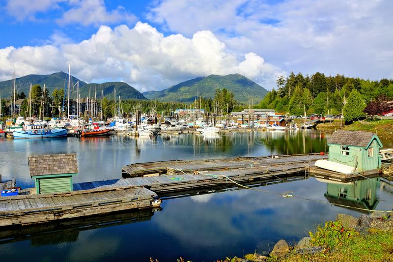 Ucluelet-Hafen, Vancouver Island BC Kanada lizenzfreie stockfotografie