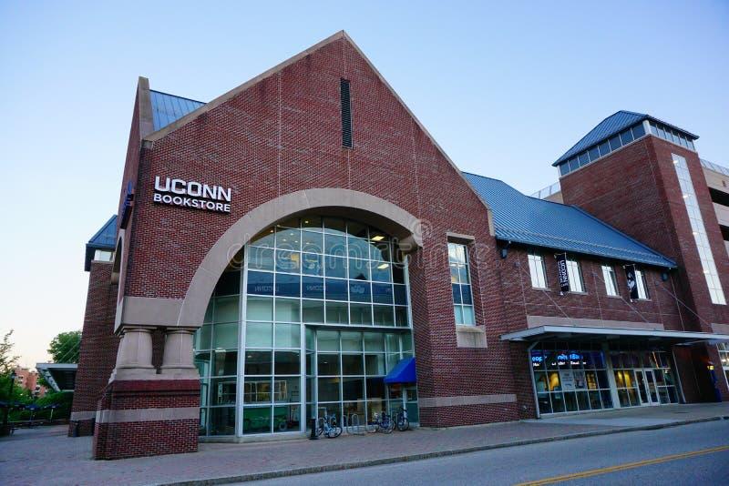 Uconn-Gebäude stockbilder