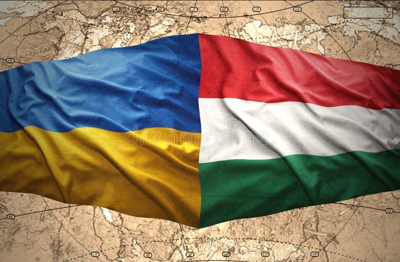Ucrânia e Hungria ilustração do vetor
