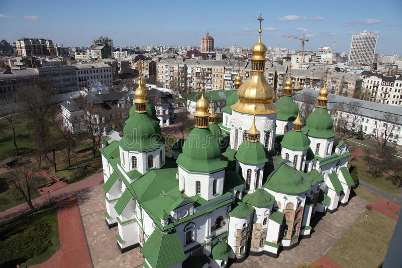 ucrânia kiev ucrânia Catedral de Sophias de Saint Poggioreale arruina a porta no balcão imagem de stock royalty free