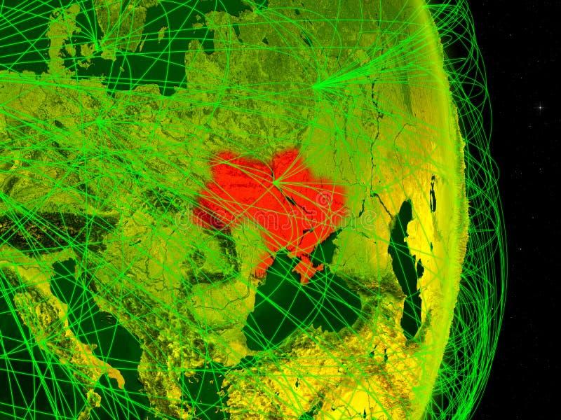 Ucrânia na terra digital ilustração royalty free