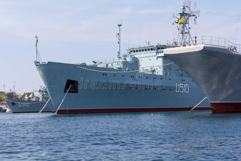 Ucrânia, Sevastopol - 2 de setembro de 2011: Marinha do ucraniano da corte imagem de stock