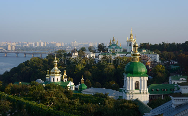 Ucrania, Kiev, Lavra, Dnepr fotografía de archivo libre de regalías