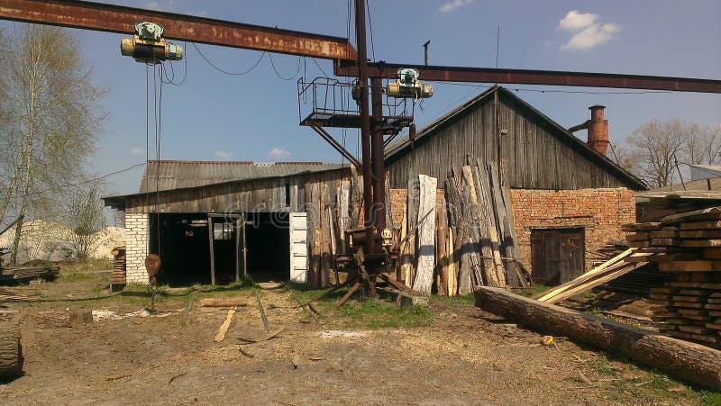 Ucrania Lumbermill foto de archivo