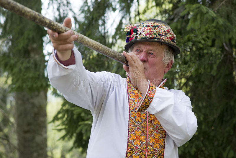 Ucraniano Hutsul imagem de stock
