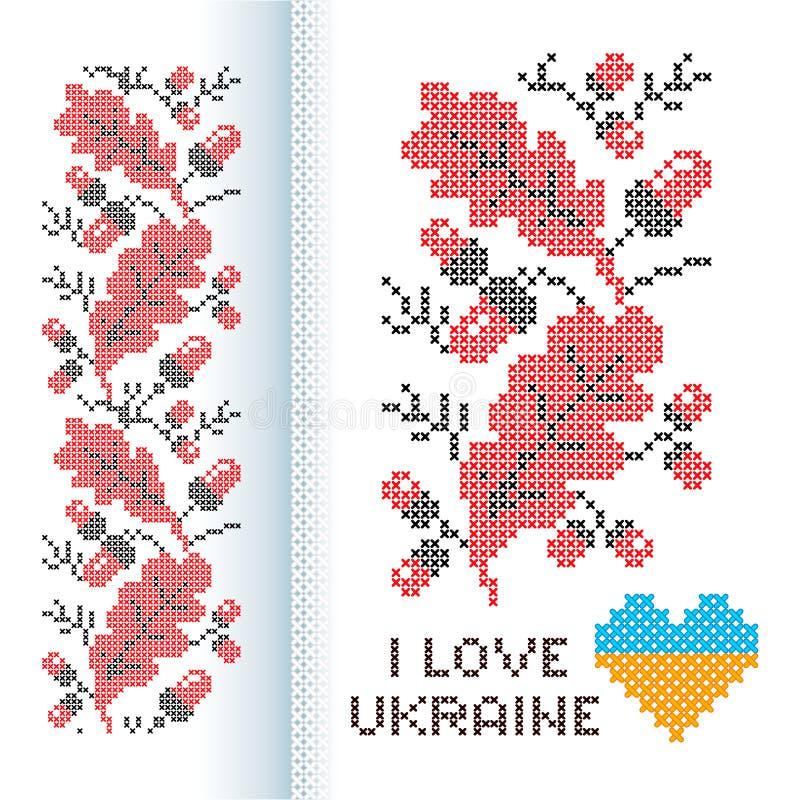 Ucraniano nacional do ornamento ilustração royalty free