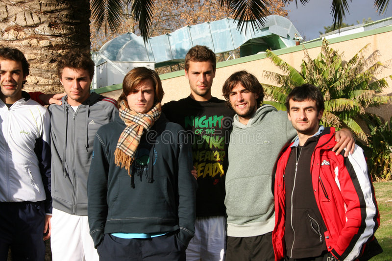 uczęszcza France praktyka s sesi drużyny tenisa obrazy stock