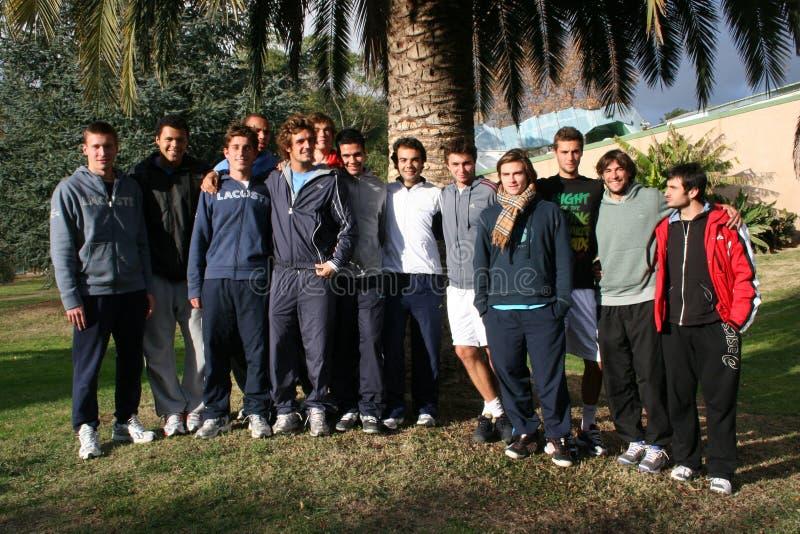 uczęszcza France praktyka s sesi drużyny tenisa obrazy royalty free