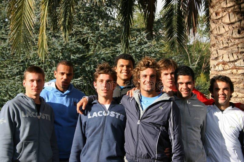 uczęszcza France praktyka s sesi drużyny tenisa zdjęcia stock