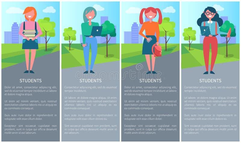 Uczeń aktywność Przeglądowa Wektorowa ilustracja ilustracji