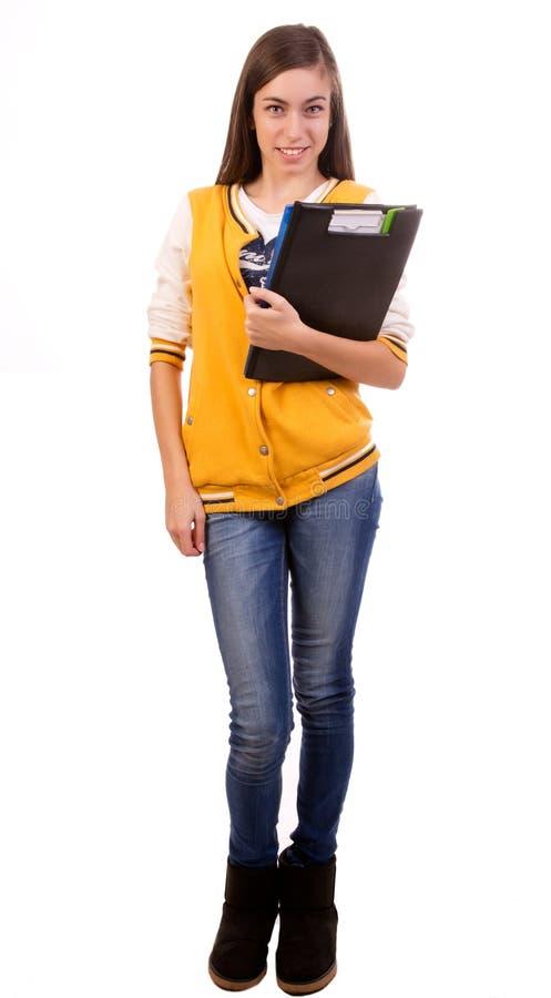 Uczeń - Folująca długość zdjęcia stock