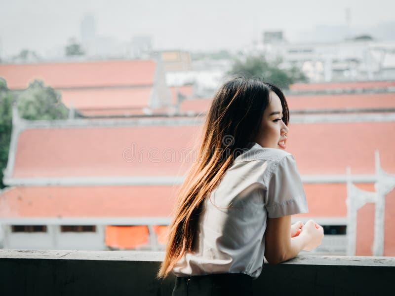 Uczeń i gradutation pojęcie od azjatykciego pięknego girl20s fotografia stock