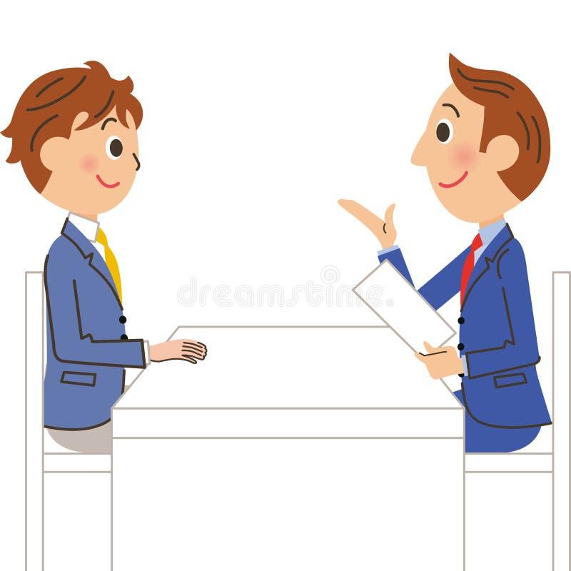 Uczeń i nauczyciel royalty ilustracja