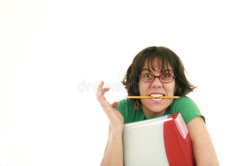 uczeń nieszczęśliwy fotografia stock