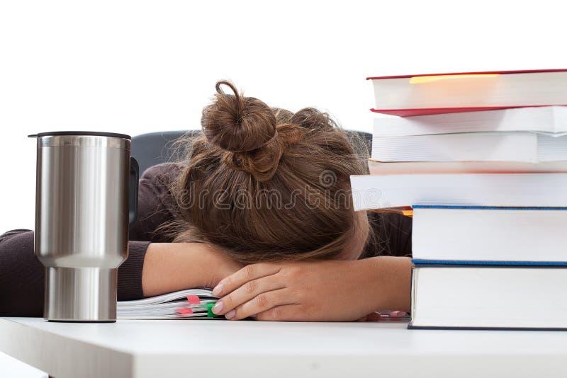 Uczeń przed egzaminem zdjęcie stock
