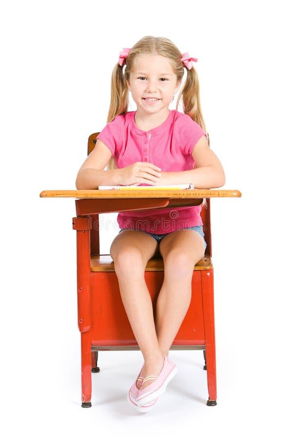 Uczeń: Uśmiechnięty uczeń Gotowy Dla szkoły zdjęcie royalty free