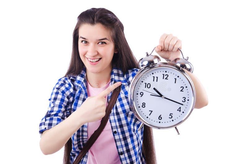 Uczeń wada spotykać ostatecznych terminy dla zdjęcia royalty free