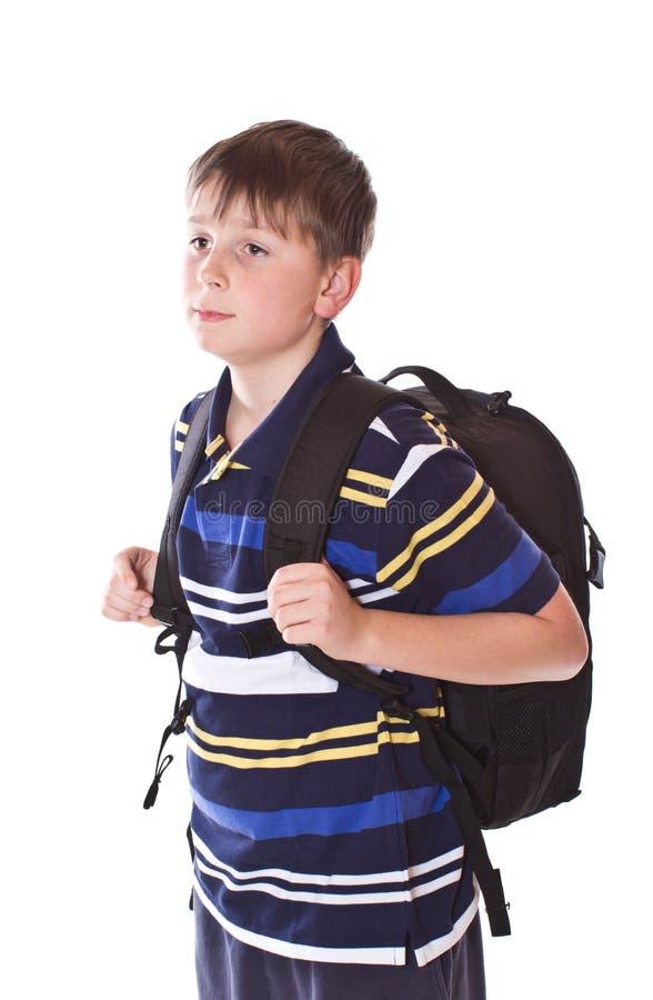 Uczeń z plecakiem obraz royalty free