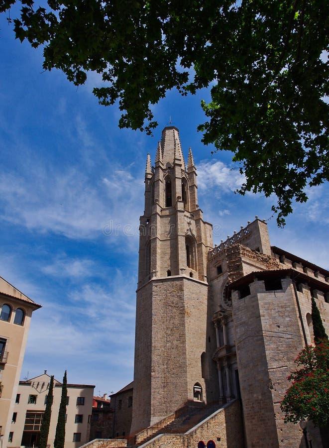 Uczelniany kościół święty Feliu, Girona, Hiszpania obrazy stock