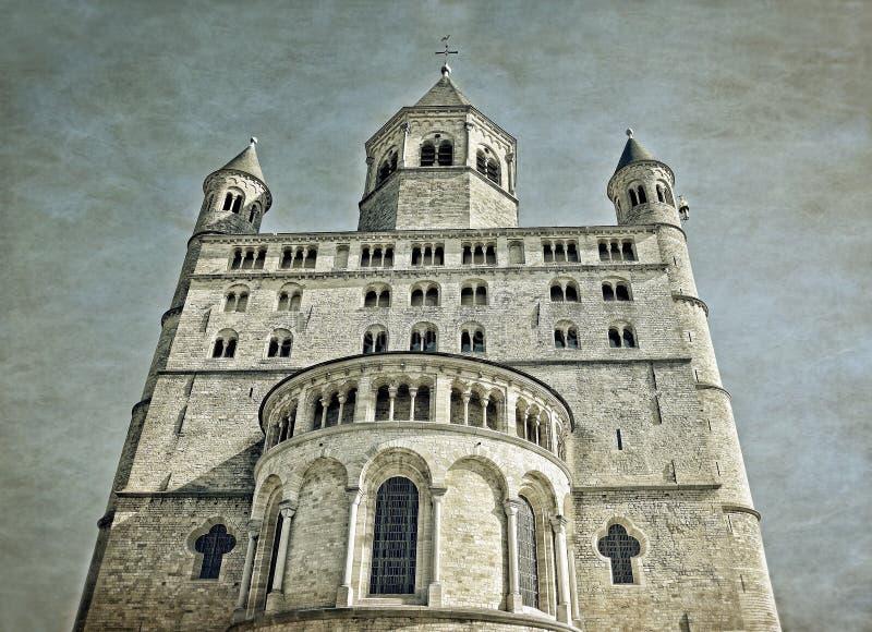 Uczelniany kościół święty Gertrude w Nivelles obrazy stock