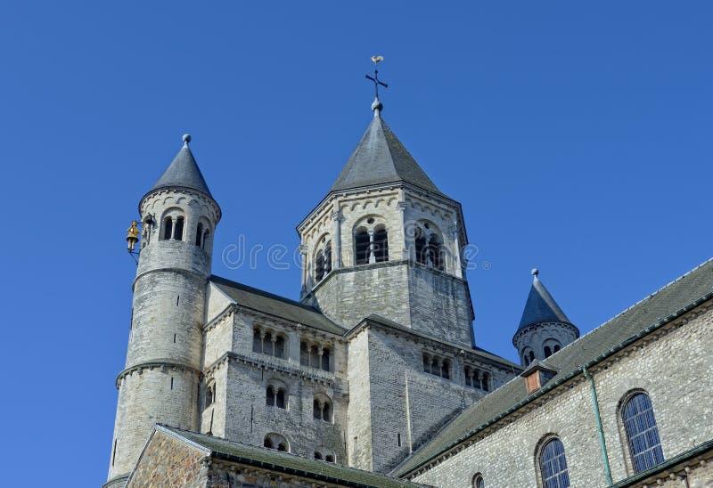 Uczelniany kościół święty Gertrude w Nivelles obraz stock