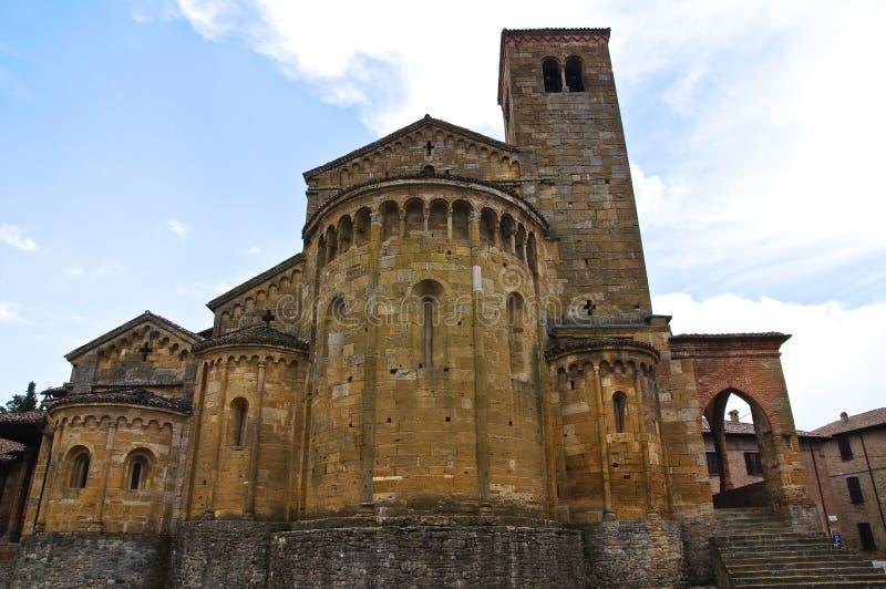 Uczelniany kościół Castell'Arquato. emilia. Włochy. zdjęcia royalty free